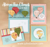 Stampin' Up! Above the Clouds Hot Air Balloon Card Kit ~ 2019-2020 Annual Catalog ~ www.juliedavison.com #stampinup