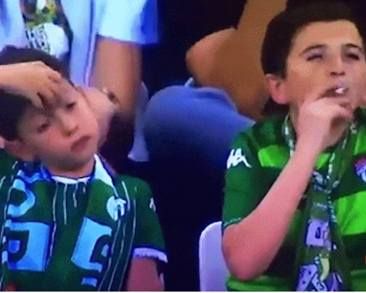 Twitter users express outrage after 'child' is filmed smoking at match
