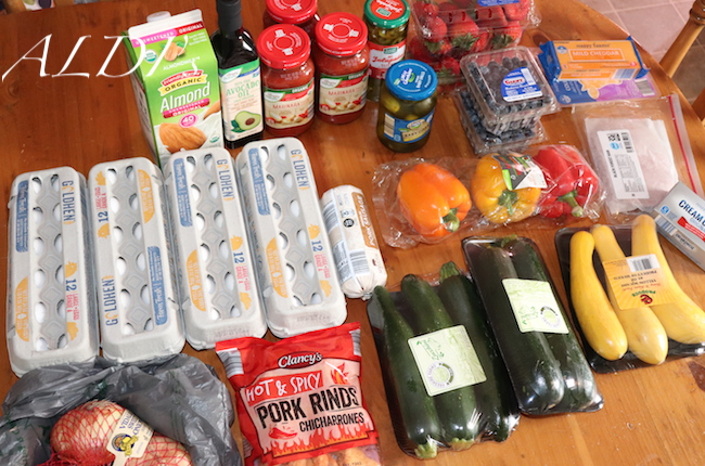 Grocery Haul and KETO Meal Plan (6/4/2019) - Cluttered CorkBoard