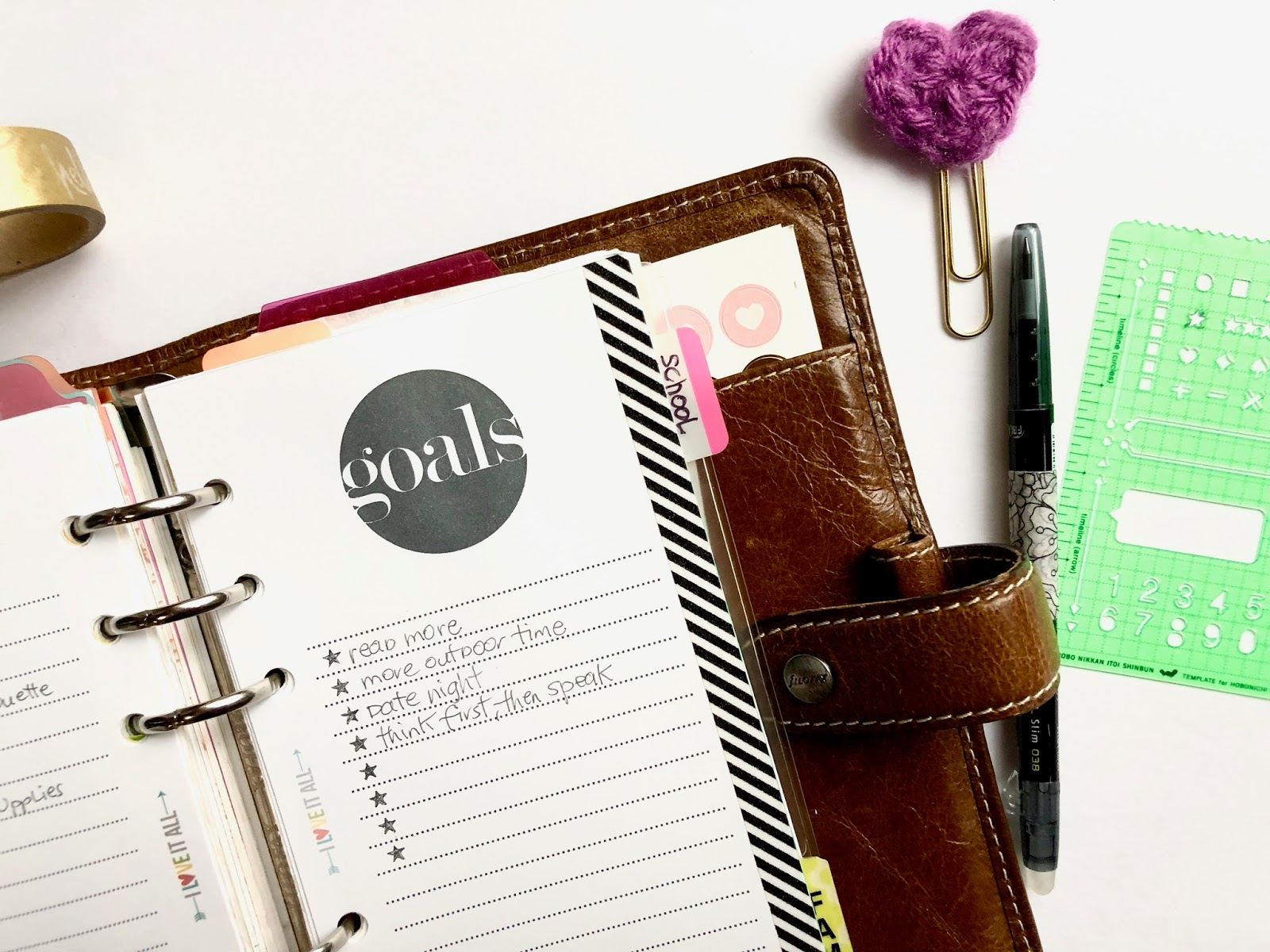 Printable Goals List for Filofax + Travelers Notebooks
