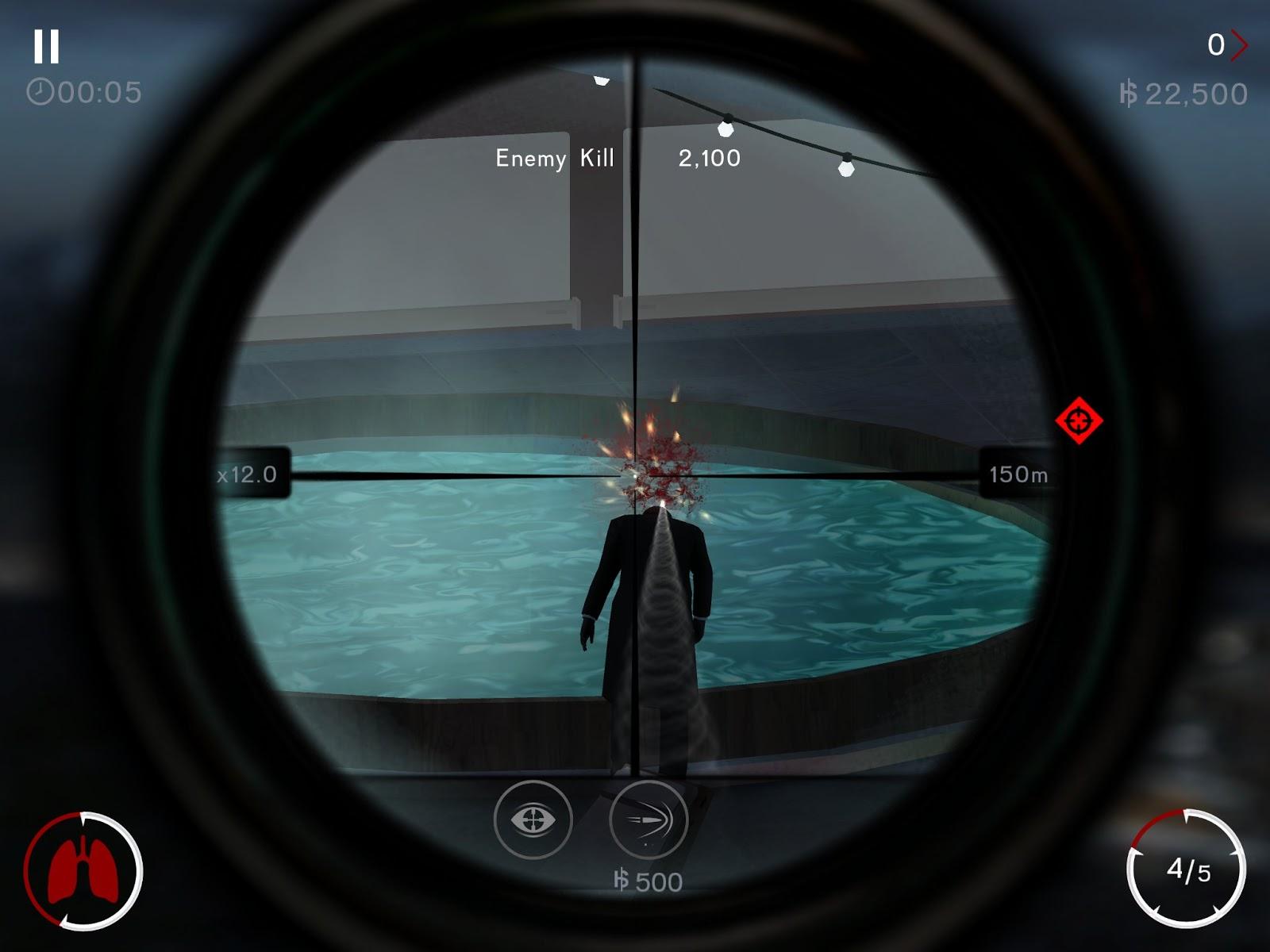 لعبة القنص الجميلة Hitman Sniper كاملة مصحوبة بملفات الداتا