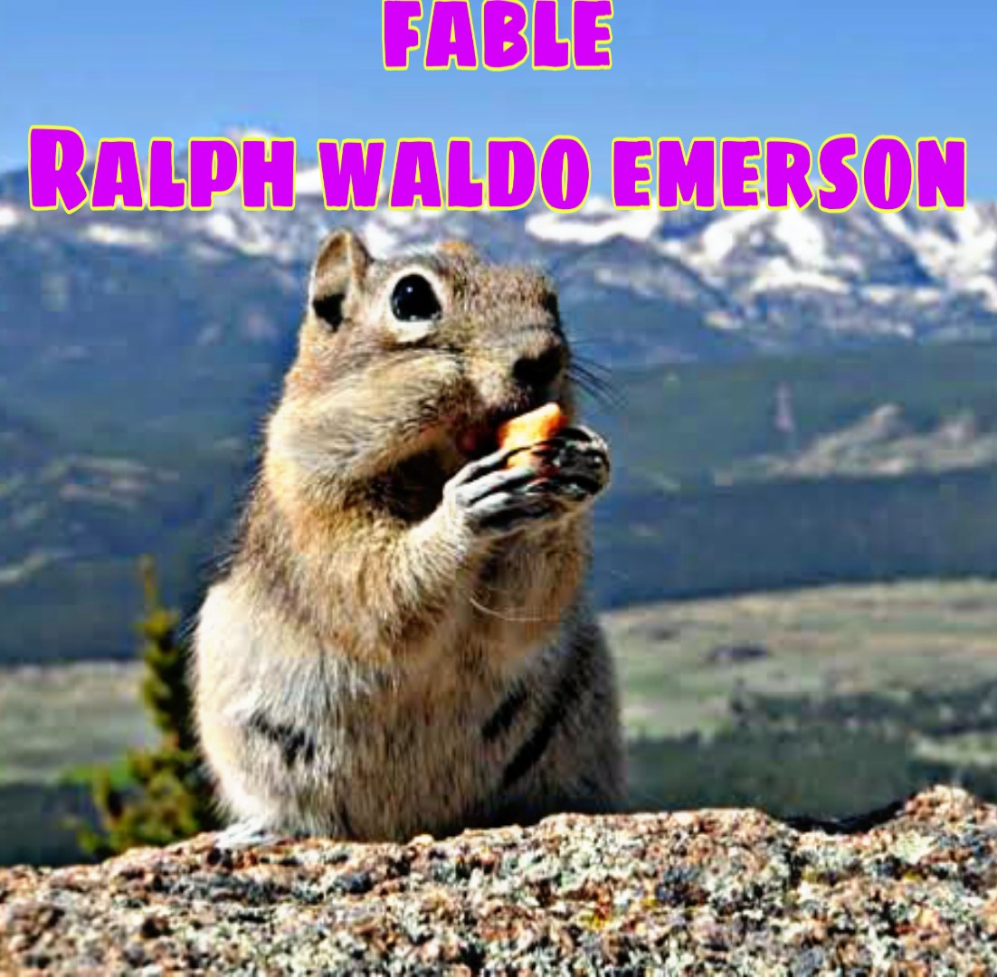 Saq Question And Answer From Fable By Ralph Waldo Emerson The Mountain Squirrel Paraphrase