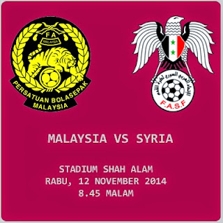 live Malaysia Vs Syria Friendly 12 Nov 2014