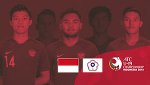 Link Live Streaming Indonesia vs China Taipei -  18 Oktober 2018