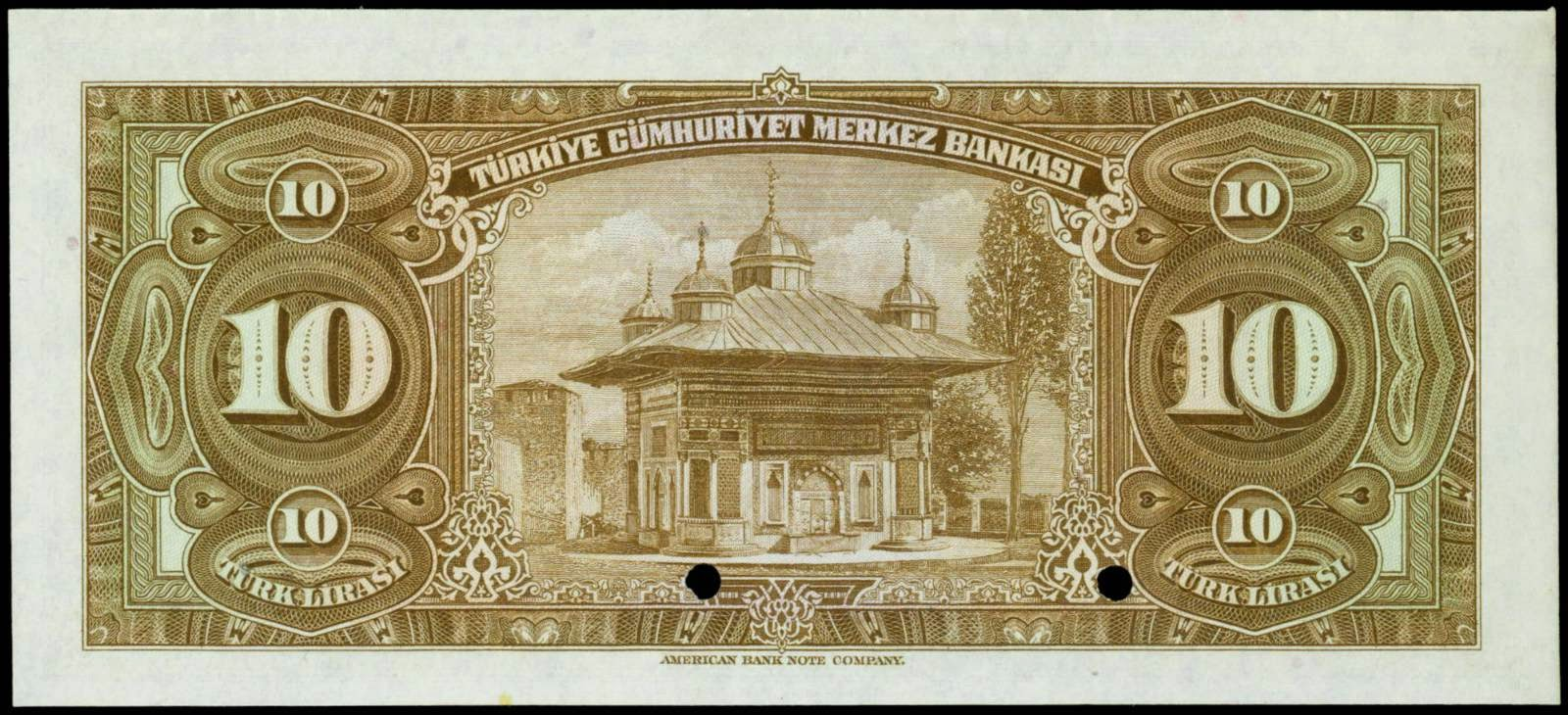 10 Turkish Lira banknote 1946