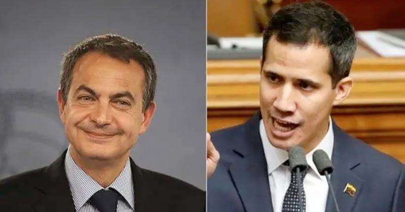 Guaidó asegura que Zapatero es un aliado del dictador Nicolás Maduro