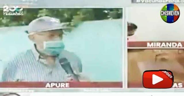 Viejito dejó sin palabras a una reportera mediocre de VTV en plena entrevista