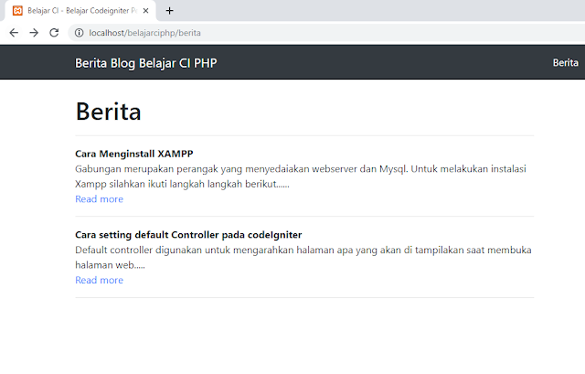 static page dan dynamic page codeigniter