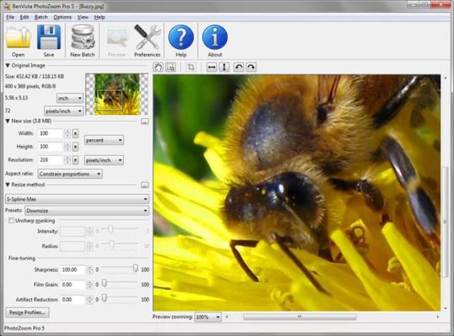 تحميل برنامج تكبير وتوضيح الصور PhotoZoom مجانا للكمبيوتر