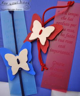 segnalibro inciso dedica regalo maestre farfalle ciondolo
