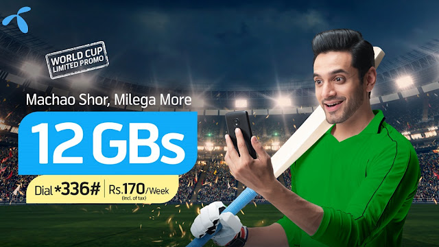 Telenor Launches Special Data Offer for Cricket World Cup 2019