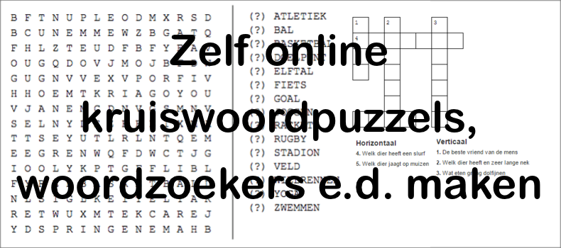 Gratis kruiswoordpuzzel maken