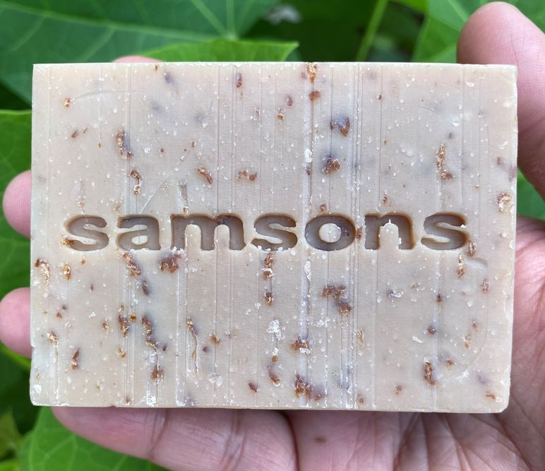 SAMSONS Goat's Milk, Oatmeal, and Coffee face and body soap for men by Ed & Kes