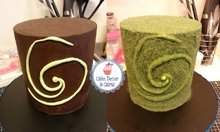 Chocolate Ganache Cake with Heart of Te Fiti Swirl and Edible Moss Recipe