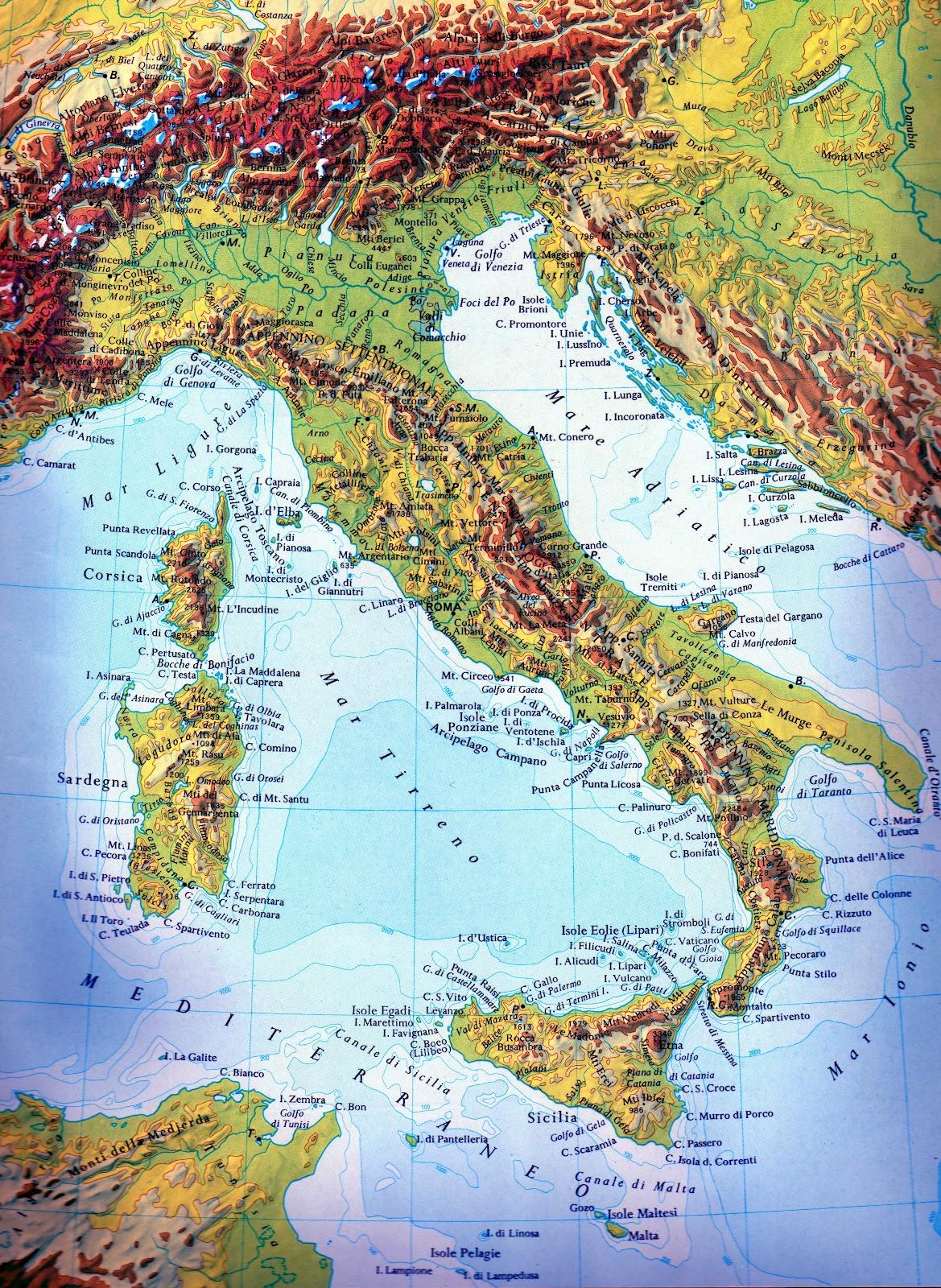 Cartina Geografica Fisica Italia Settentrionale Pieterduisenberg