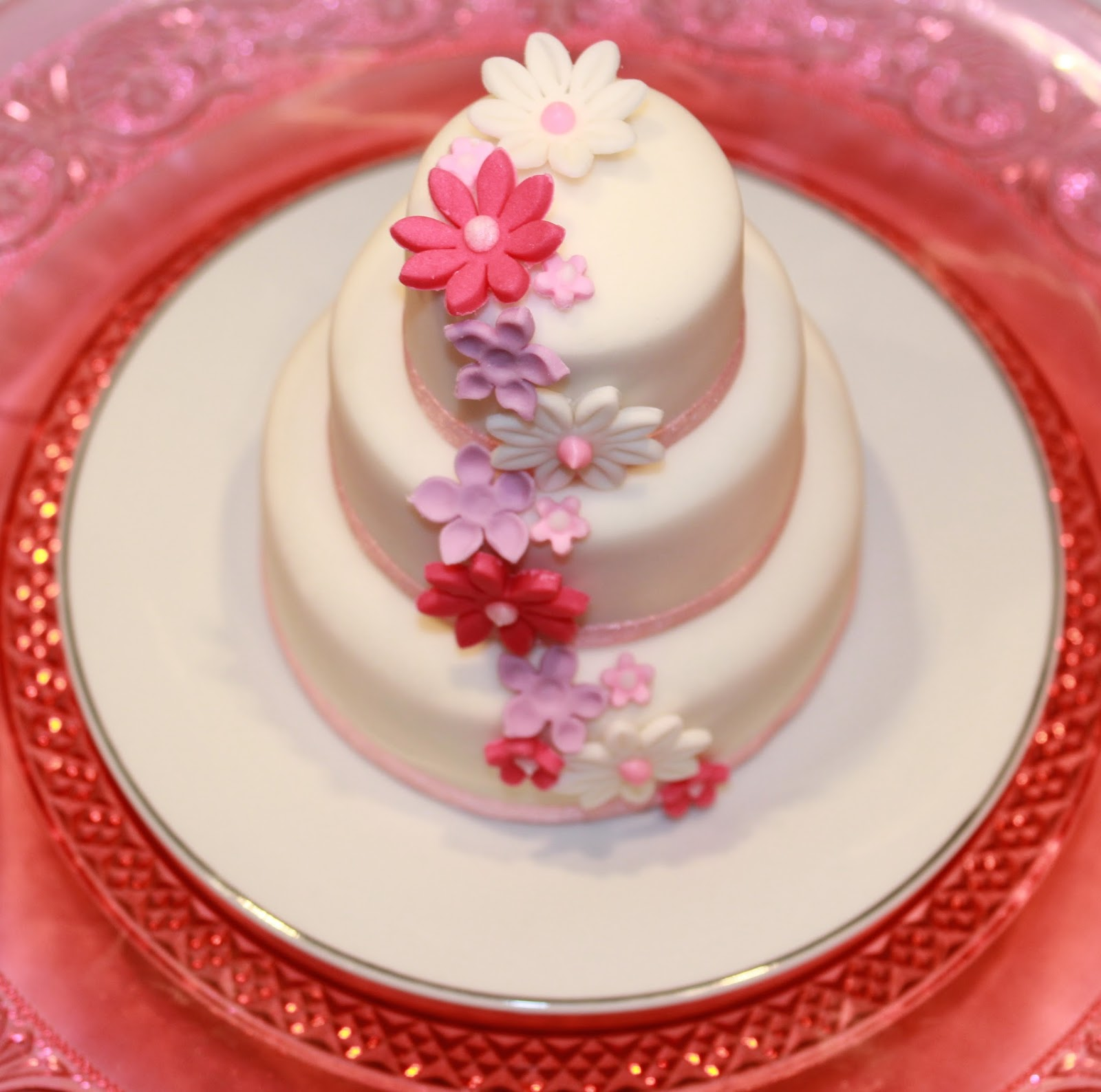 Crescent Cakes By Kath 3 Tiered Mini Cake