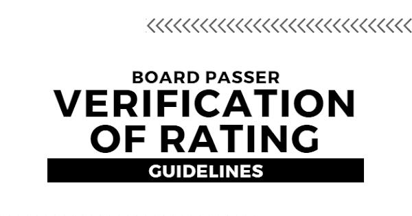 Verification of Rating: Dentist Licensure Exam December