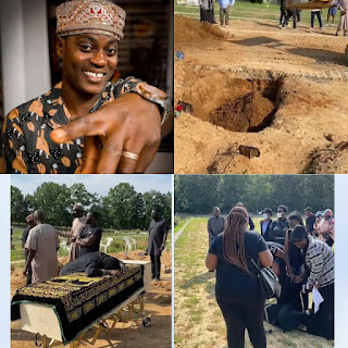 GX GOSSIP: Pictures & Videos from the funeral of nigerian singer Sound Sultan; his heartbroken wife Farida Fasasi breaks down