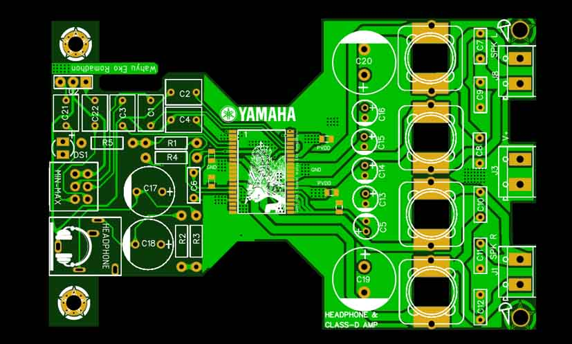 Class-D Amplifier Yamaha YDA138 - Electronic Circuit