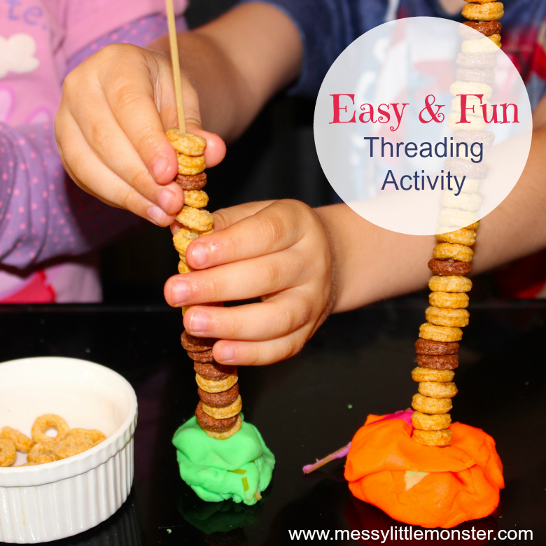 Pasta Play - Easy activity ideas that work on fine motor skills
