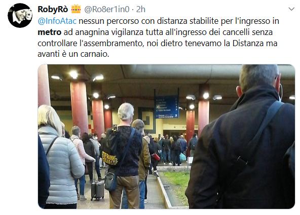 Situazione del trasporto pubblico di Roma di mercoledì 6 maggio