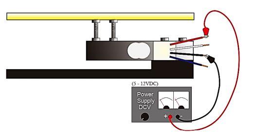Sumber tegangan pada sensor Load Cell