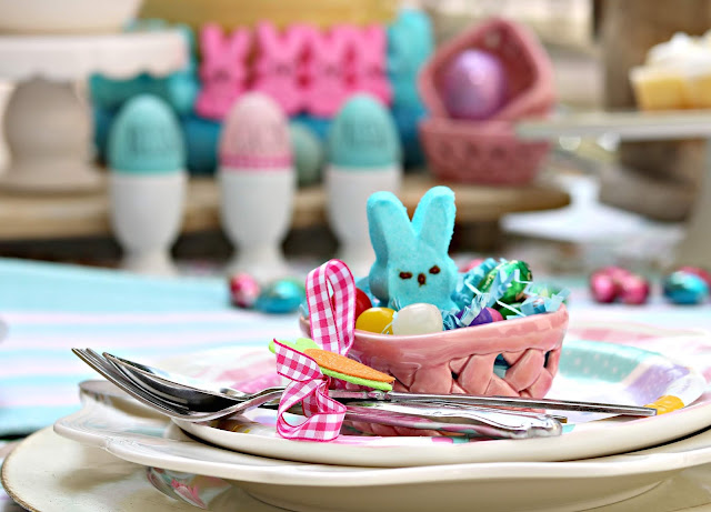 pastel, pink, blue, country, tablescape, Easter, outdoor, athomewithjemma.com