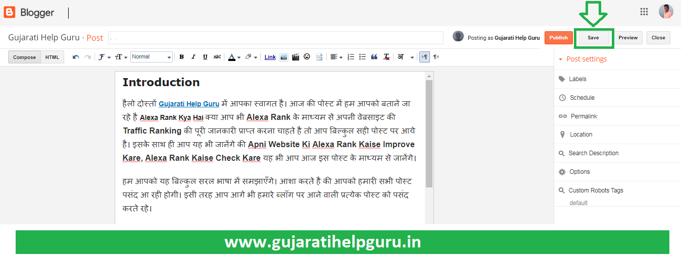 Blogger Blog Pe New Post Kaise Publish Kare 2020 How to Create a New Post in Blogger? 4