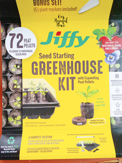 Jiffy seed starting greenhouse kit