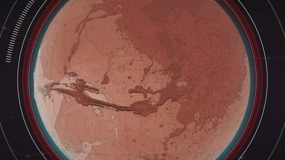 Per Aspera the Mars planet view from space