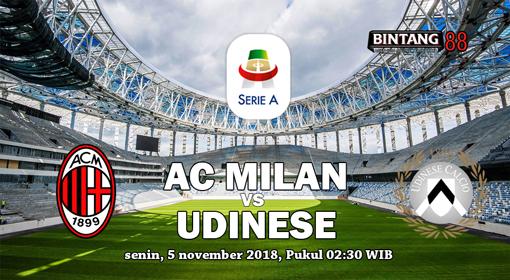 Prediksi Udinese v AC Milan 5 november 2018