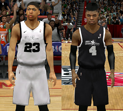 NBA 2K14 Rising Stars: Rookie-Sophomore Jerseys