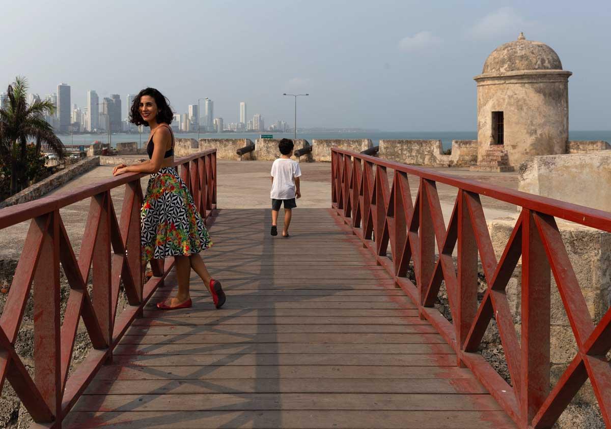 Colombia Cartagena com criança