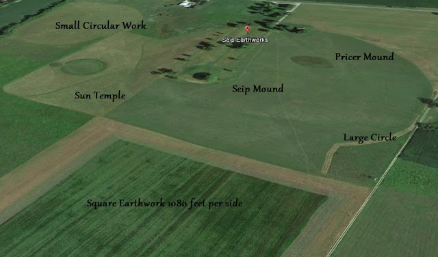 Hopewell Sioux Seip Earthworks and Burial Mounds