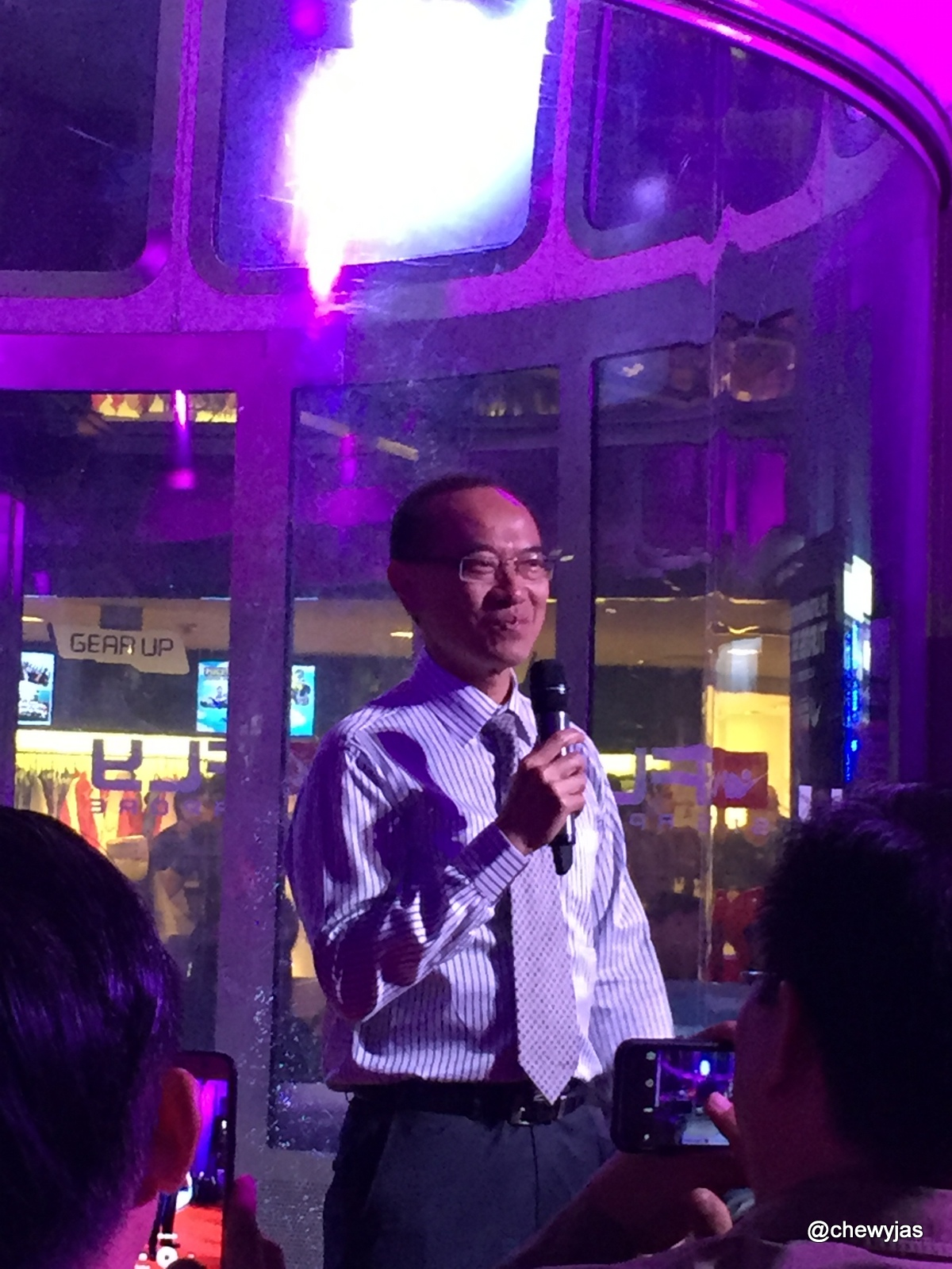Chewyjas Event Ifly Singapore 5th Anniversary Night Of Sports Adult Guest Honour Mr George Yeo Was Here To Grace The He Also One Who Opening