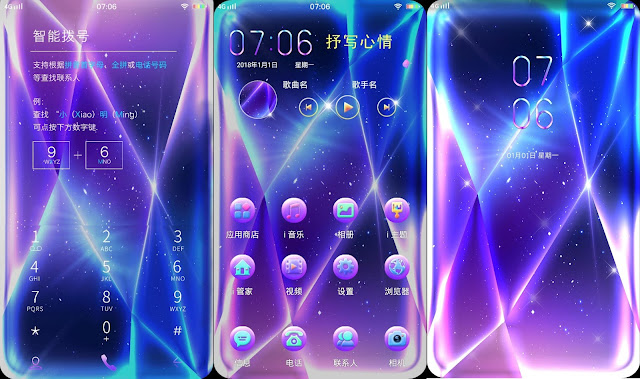 Blue Purple Diamond Theme For Vivo Smartphone