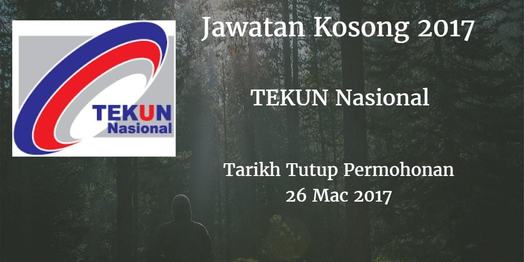 Jawatan Kosong TEKUN Nasional 26 Mac2017