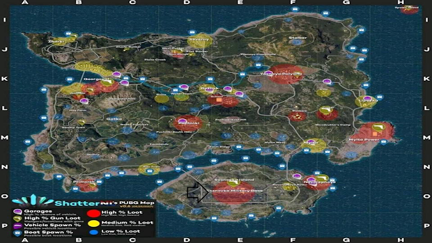 Playerunknown S Battlegrounds Maps Loot Maps Pictures: Pubg Mobile Loot Map
