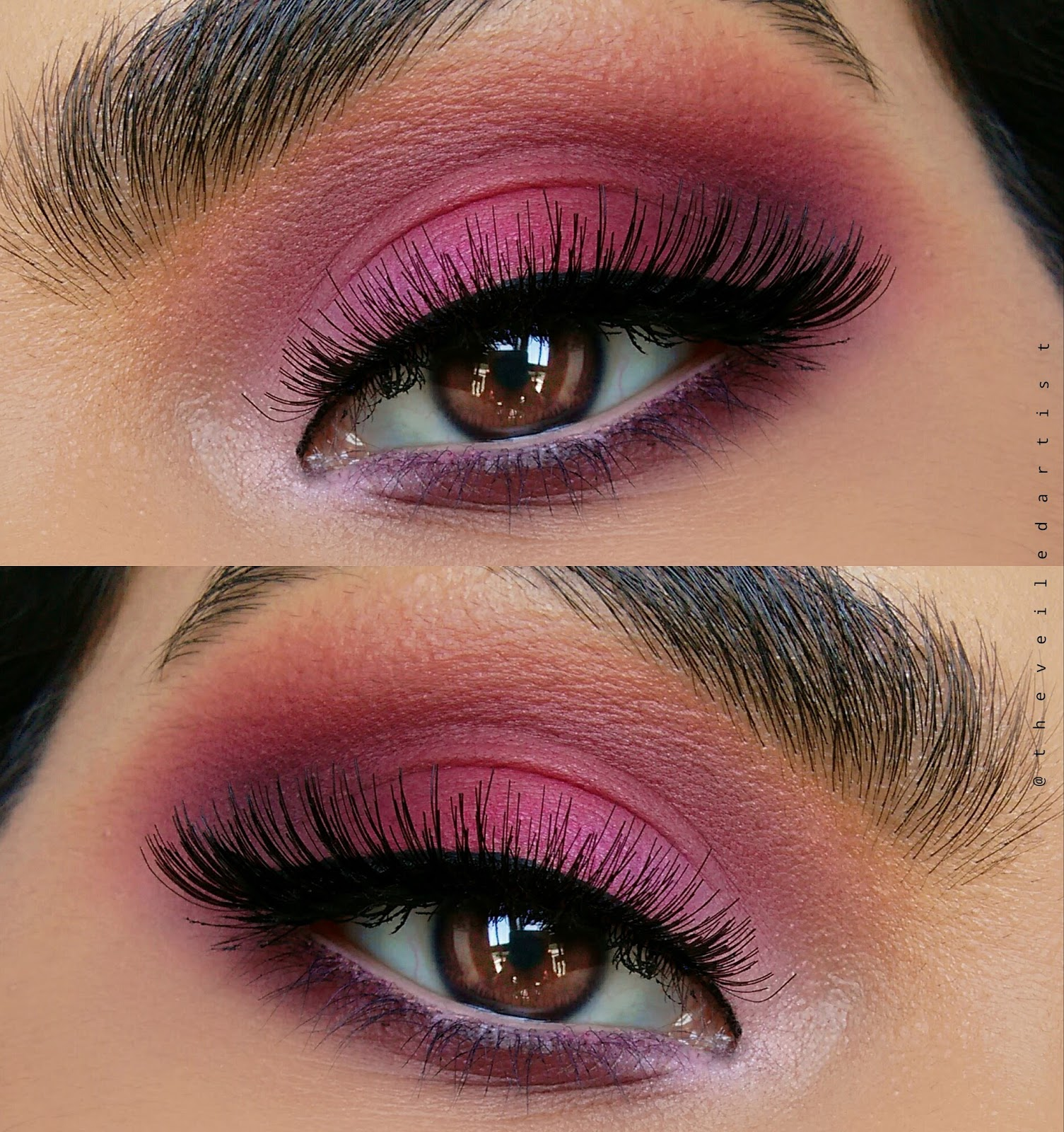 all matte pink ombre eyeshadow tutorial the veiled artist
