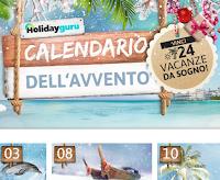 Logo Calendario dell'Avvento HolidayGuru: 24 viaggi da sogno da vincere gratis, 1 ogni giorno.