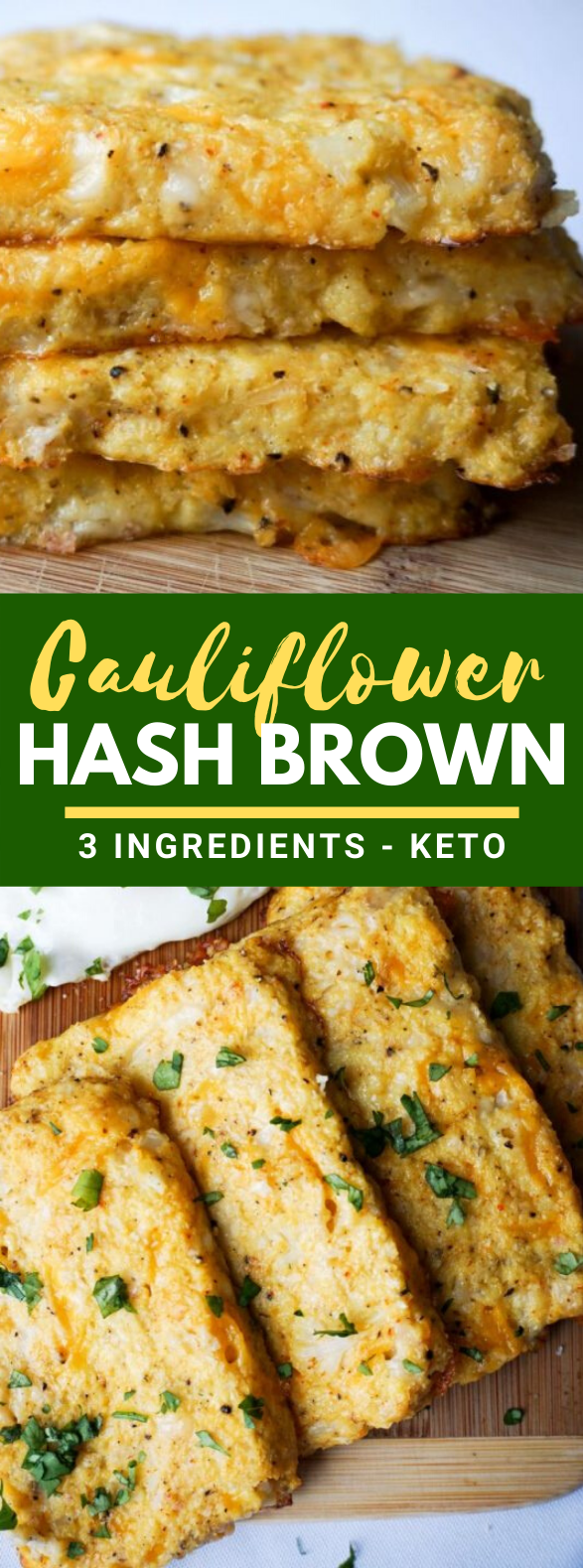 3 Ingredient Cauliflower Hash Browns #ketodiet #breakfast