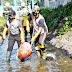 HPSN 2021, Kapolres dan Dandim 0821 Lumajang Pimpin Pembersihan Sampah di Sungai