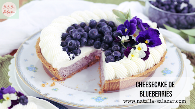 Blueberry cheesecake receta en español