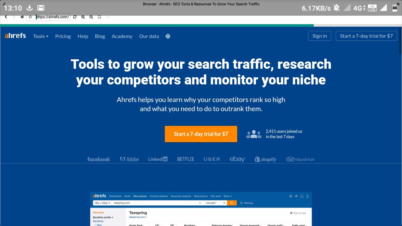 backlink checker of ahrefs tool