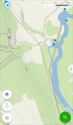 Mapy.cz - главный экран