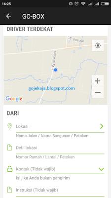 Cara Memesan Go-Box di Gojek