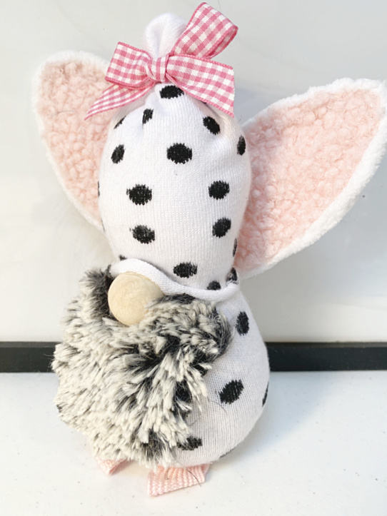 Easter bunny polka dotted gnome