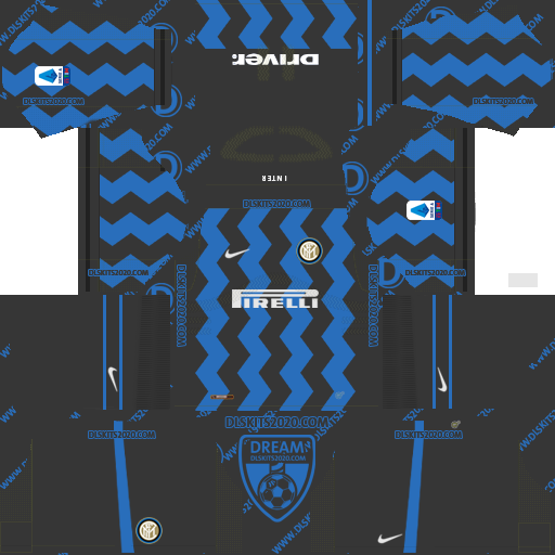 Inter Milan kits 2020-2021 by nike kits dream league soccer 2019 (home)