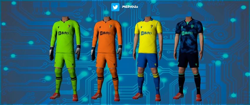 Cadiz CF Kits 2021-22 For eFootball PES 2021