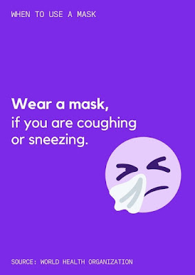 Wear a mask, if you are coughing or sneezing
